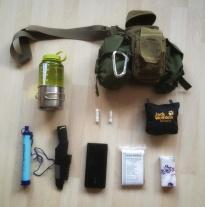 Ausrüstung für den Survivalmarsch